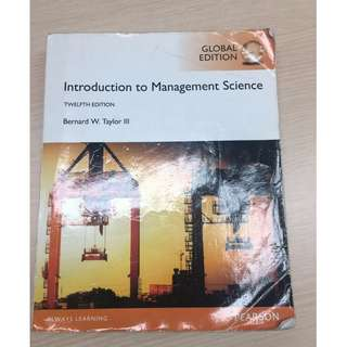 Introduction to Management Science, 12th edition, Prentice-Hall, 2016.