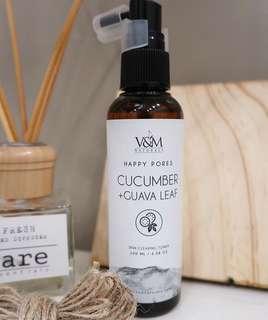 V&M Naturals Cucumber + Guava Leaf Skin Clearing Toner