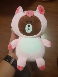 Teddy Bear In A Piglet Costume Soft Toy
