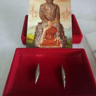 2piece of Lp Yai silver leklai takrut