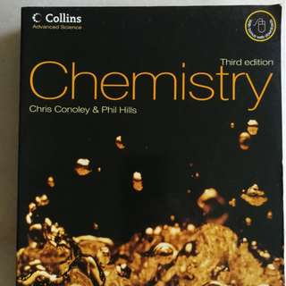 A Levels' Chemistry Textbook by Chris Conoley and Phil Hills