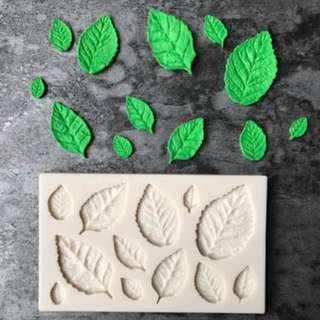 ROSE LEAF SILICONE MOLD TOOL for Pastry • Chocolate • Fondant • Gum Paste • Candy Melts • Jelly • Gummies • Agar Agar • Ice • Resin • Polymer Clay Craft Art • Candle Wax • Soap Mold • Chalk • Crayon Mould •