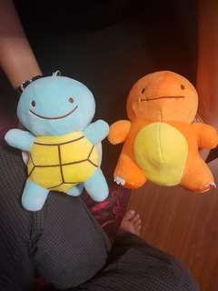 Squirtle/Charmander Soft Toys