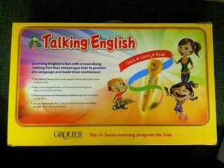 Talking English Books & Listening GROLIER