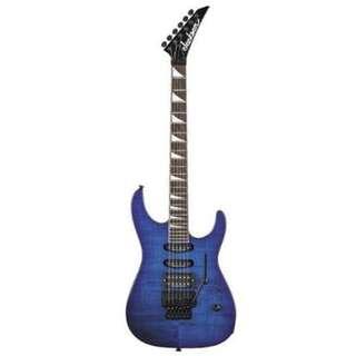 Jackson DK2 Dinky Electric Guitar w/Case, Transparent Blue