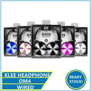 ORIGINAL KLEE OM4 HEADPHONE BASS WITH MIC HEADSET HANDFREE XB450 XB-450 XB 450