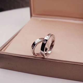 C diamond ring, unisex couple ring