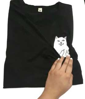Middle Finger Cat Dri-Fit Tshirt