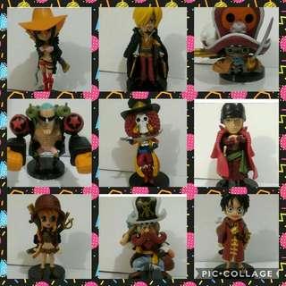 One Piece Z Anime Action Figures 9pcs