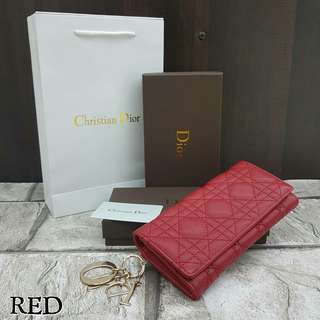 Dior Panarea Red Wallet
