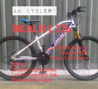 """MTB 26"""" DKALN 24 Speed Trigger Shifters Lock Out Suspension Fork Mechanical Disc Brakes"""