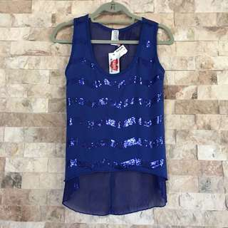 Sequenced blue top