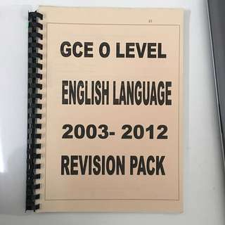 GCE O Level English Language Past Year Papers (2003 - 2012)