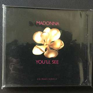 Madonna You ll See Single CD