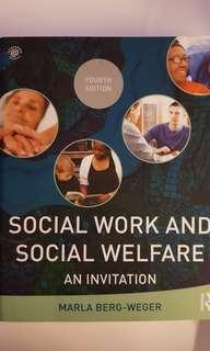 Social Work and Social Welfare - An Invitation By Marla Berg-Weger (4th Edition)
