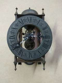 Vintage Clock no working and parts not complete  .TEMPUS FUOIT for display only