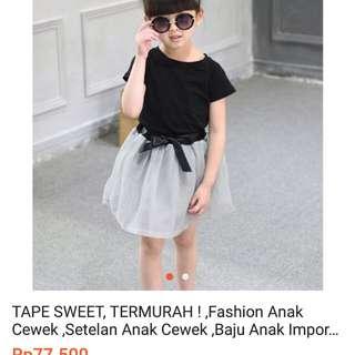Baju import size 5-6 tahun