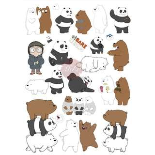 We Bare Bears Luggage Sticker