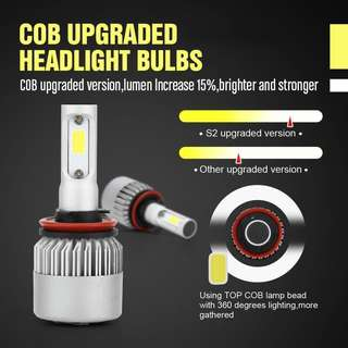 🏎H1 H3 H4 H7 H8 H9 H11 9005 9003 HB3 HB4 LED HEADLIGHTS FOR ALL CARS 🏎