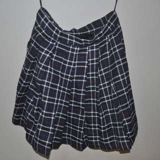 PLAID JAPANESE SCHOOL GIRL SKIRT BLUE
