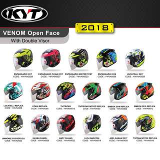 KYT Venom Open Face With Double Visor
