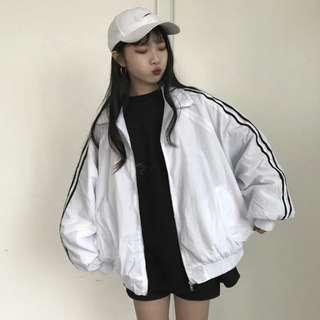 [PO] side stripped outerwear