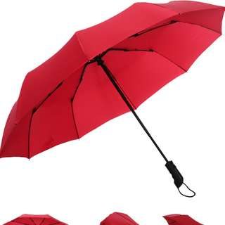 結婚出門大紅雨傘大- 按掣自動伸長