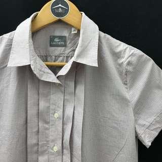 Lacoste - Pink Grey Kotak2 Shirt