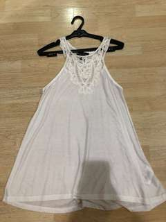 H&M White Lace Tank Top