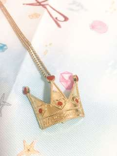 🌈 DISNEY Alice in Wonderland ❤️👑 The Queen of Hearts Necklace / Pin