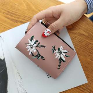 [PO] embroidery flower purse