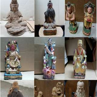 Clearing = Offer yr price and take - Chinese God / Figures / Figurine /Statues