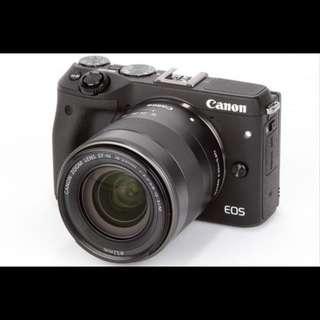 Canon EOS Mirrorless 24.2MP M3 KIT DUAL LENS (18-55/55-200)BLACK