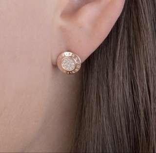PANDORA ROSE SIGNATURE STUD EARRINGS 280559CZ