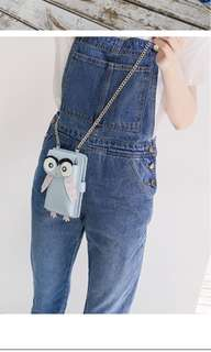 PO Owl Summer Mobile Phone Bag Purse Chain Messenger New Mini Bag Korean Harajukh Ulzzang