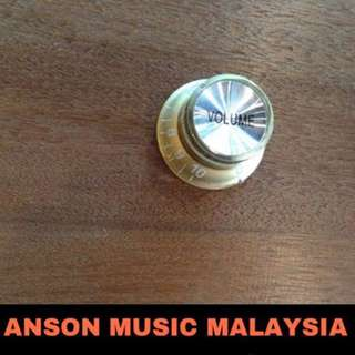 Gibson Style Volume Knob, Gold/Silver