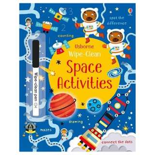 (Brand New) Wipe-Clean Space Activities Wipe-clean Books    By: Kirsteen Robson - Paperback