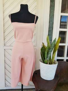 Salmon Pink Short Jumpsuit