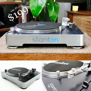 BRAND NEW UNIT - STANTON DIRECT DRIVE PROFESSIONAL QUALITY TURNTABLE (UP $549) WAREHOUSE PRICE $199 while stock lasts!