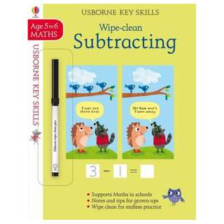 (Brand New) Wipe-Clean Subtracting 5-6 Key Skills By: Holly Bathie, Maddie Frost (Illustrator) Paperback