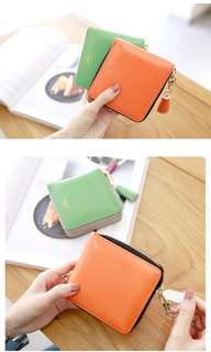 PO Korean Style wallet Harajuku Ulzzang Tassel Pear Doll Simple Hit Color Zipper Student Japan Small