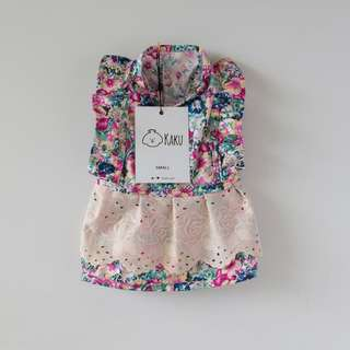 Dog Dress (Summer Flower) 100% Cotton