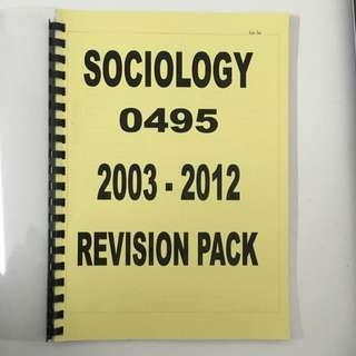 Sociology 0495 Past Year Paper (2003 - 2012)