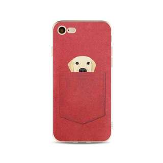 Pocket Friends Puppy Dog Soft Red Case for iPhone 5, 5s, 6, 6+, 6s, 6s+, 7, 7+, 8, 8+,