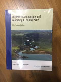 ACC2707 Corporate Accounting and Reporting I Textbook