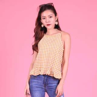 Gingham top (yellow)