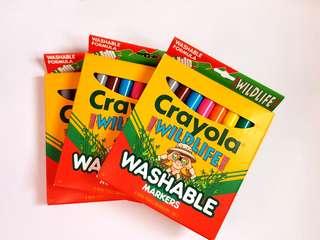 🆕️CRAYOLA 8pk Wildlife Washable Markers (EACH)