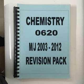 Chemistry Past Year Paper 0620 (M/J 2003 - 2012)
