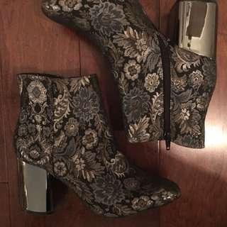 Metallic boots-ladies size 9