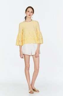 TCL Mya Crochet Top in Daffodil